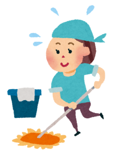 大掃除での床掃除